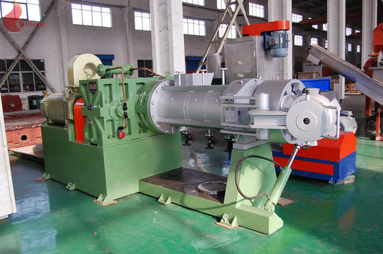 Single Screw Strainer Extruder For Soft  Semi Rigid PVC Plastic